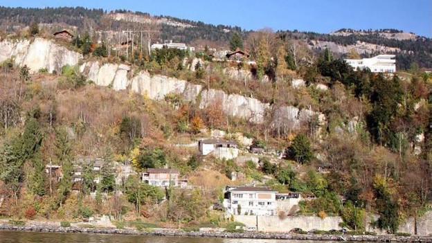 Im Herbst wird die Gefahr durch Felsstürze im Gebiet Horlaui am besten ersichtlich