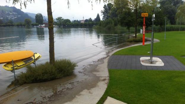 Im Seefeld Park Sarnen bleiben die Badegäste aus