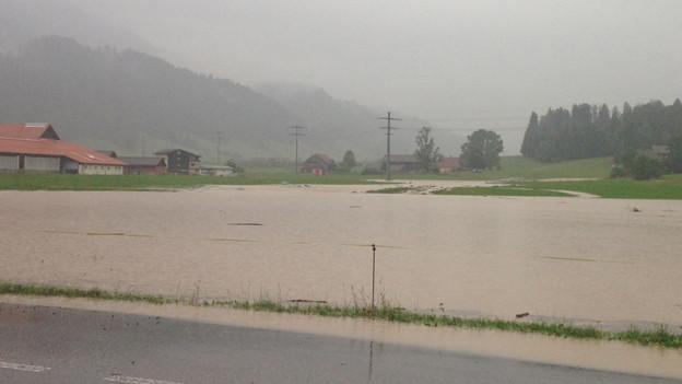 Auch Schüpfheim war vom Unwetter stark betroffen.
