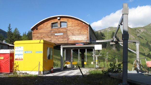 Die Mittelstation der Bergbahn.