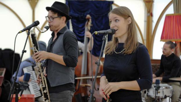 Eine Band am Jazzfestival Willisau