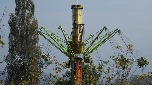 Der Sky-Flyer ist eine neue Attraktion an der Luzerner Herbstmesse