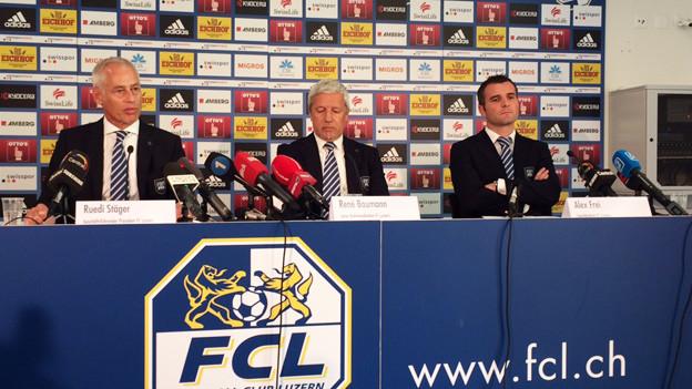 Lange Gesichter beim FCL nach der Freistellung des Trainers.