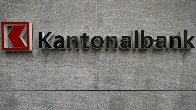 Tafel mit der Aufschrift «Kantonalbank».