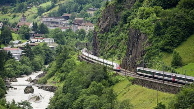 Gotthard-Bergstrecke soll touristisch genutzt werden.