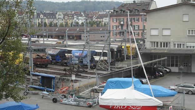 Das Gebiet Rösslimatte hinter dem Bahnhof Luzern.