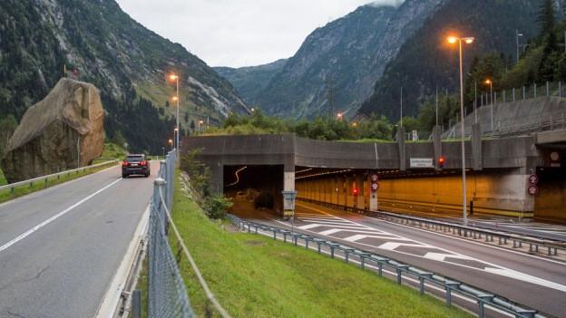Nordportal des Gotthard-Tunnels.