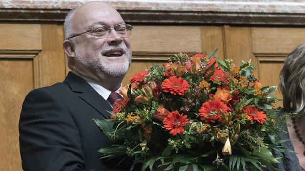 Ruedi Lustenberger nach seiner Wahl zum Nationalratspräsidenten.