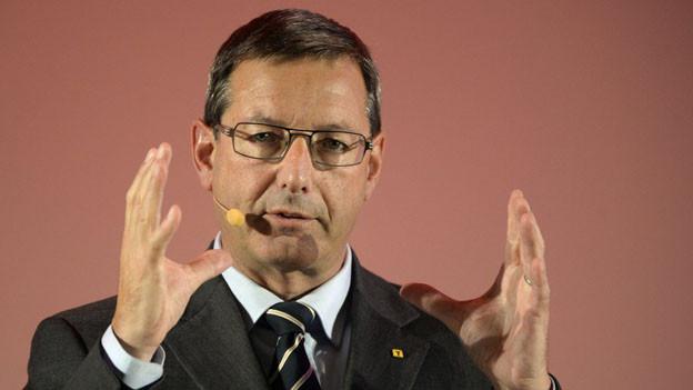FDP-Politiker Josef Dittli bei einer Rede.