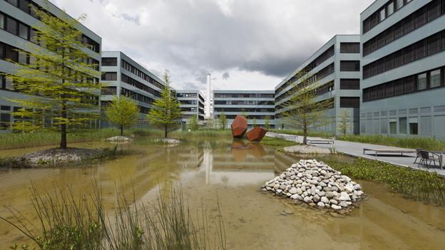Gebäudekomplex bei Siemens in Zug.