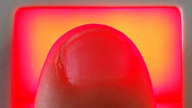 Der Fingerabdruck könnte missbraucht werden.