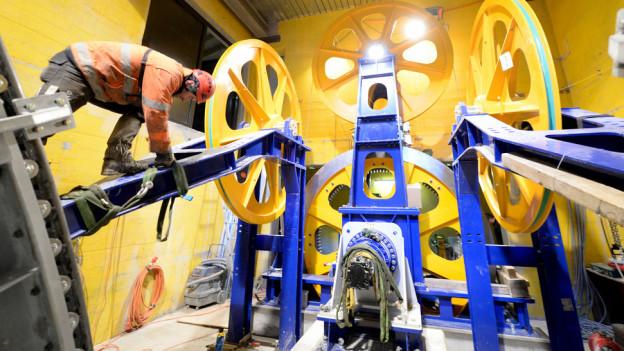 Die Arbeiten für die neue Gondel der Pilatusbahn sind voll im Gange