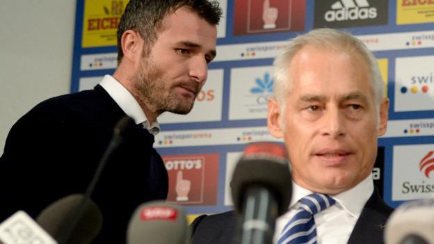 Ruedi Stäger (rechts) sucht einen Nachfolger für Alex Frei.