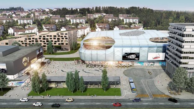 In Ebikon ist ein grosses Einkaufszentrum geplant.