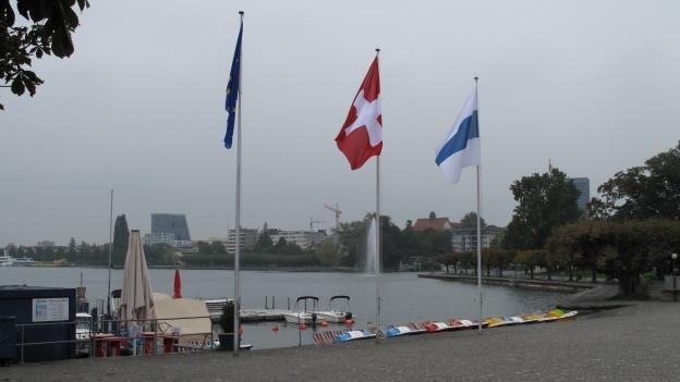 Die Landammanfeier fand an der Zuger Seepromenade stat