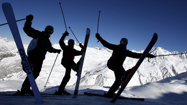 Viel Schnee lockt viel Gäste in die Berge.