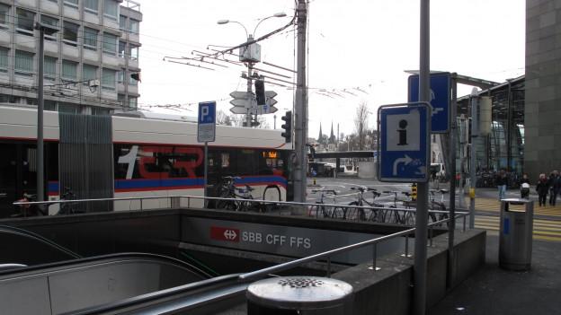 Bus in der Stadt Luzern.