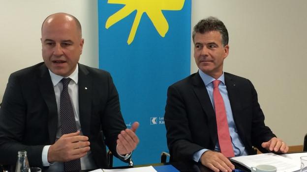 Geschäftsführer und Verwaltungsratspräsident bei der Medienkonferenz.