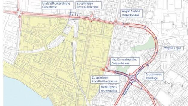 Visualisierung des Stadttunnels