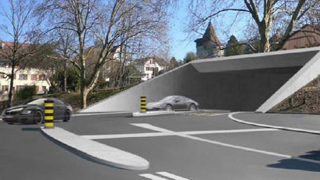 So könnte ein Portal des Zuger Stadttunnels aussehen.