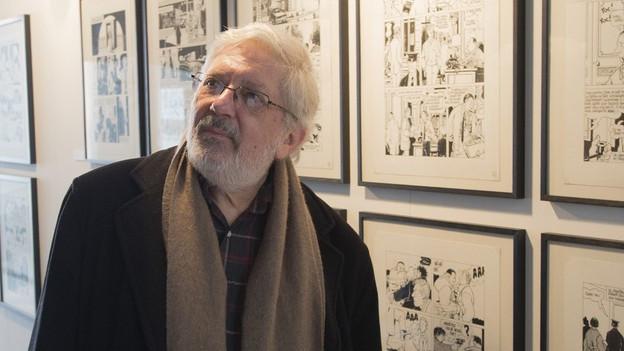 Der französische Zeichner Jacques Tardi am Fumetto.