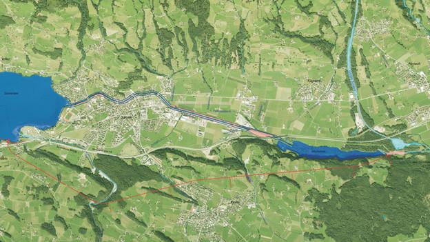 Der Bau des Hochwasserentlastungsstollen entlastet auch Alpnach.