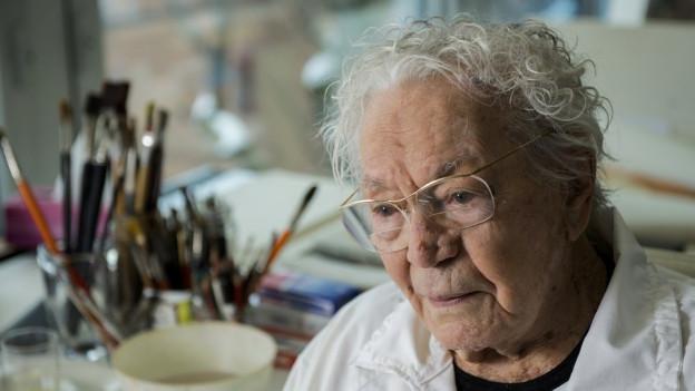 Hans Erni an seinem 106.Geburtstag.