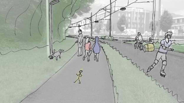 Der geplante Rad- und Fussweg soll erst im Frühling 2017 eröffnet werden.