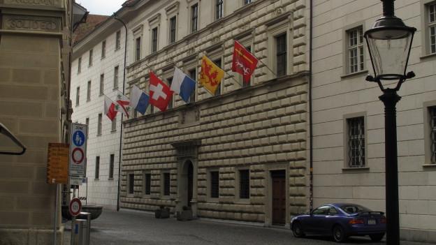Regierungsgebaeude im Kanton Luzern.
