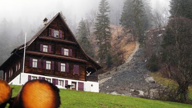 Murgang oberhalb von Schwyz.