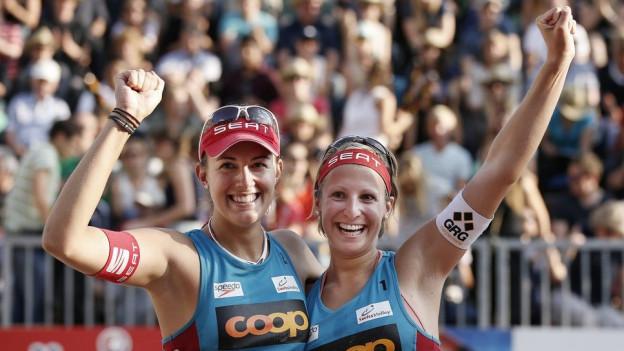 Auch die gebürtige Schwyzerin Tanja Hüberli (links) ist zusammen mit Tanja Goricanec mit dabei am «Lucerne Open».