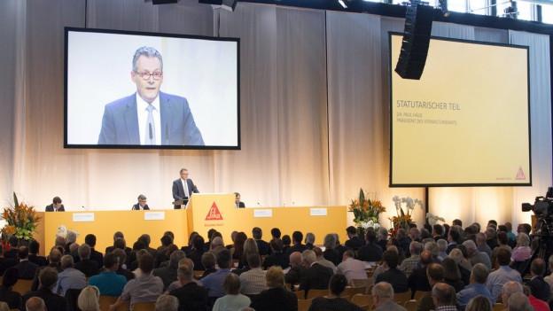 Kämpft gegen den Verkauf der Sika: Verwaltungsratspräsident Paul Hälg