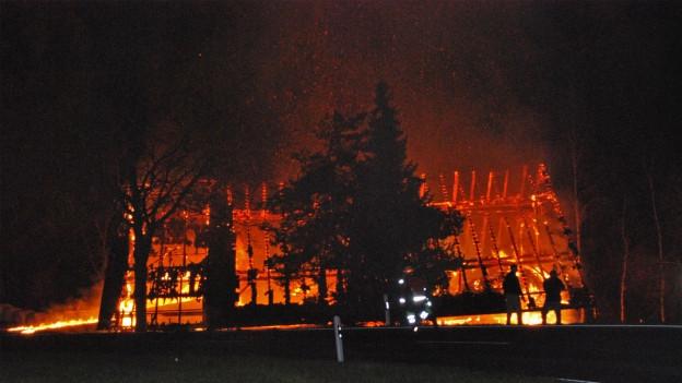 Grosse Schäden durch Feuer, wie im März 2014 in Malters, werden gemäss GVL immer seltener.