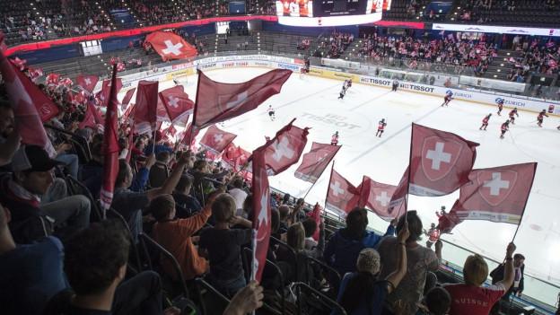 Viel Publikum an der Eishockey-Junioren-WM in Zug.