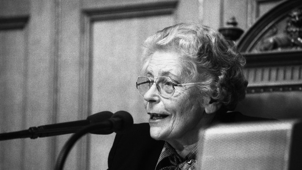 Elisabeth Blunschy vertrat den Kanton Schwyz von 1971-87 im Nationalrat.