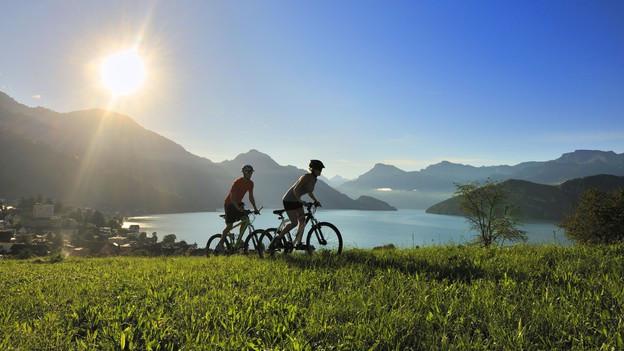 Biker im Kanton Nidwalden.