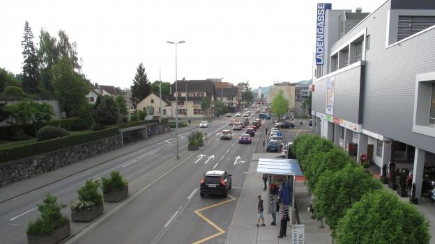 Kantonsstrasse in Ebikon.