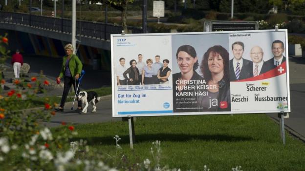 Plakate aus dem Wahlkampf 2011.