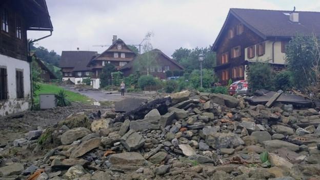 Unwetterschäden in Dierikon.
