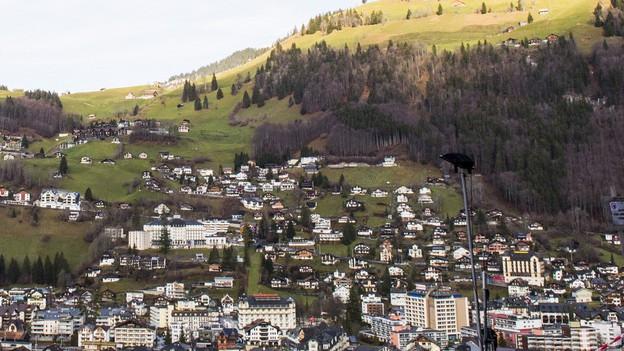 Blick auf Engelberg.