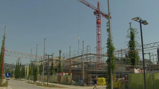 Baustelle Hofstetter-Feld