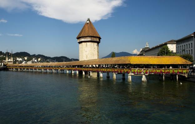 Kappellbrücke in Luzern.