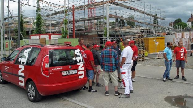 Der Streik auf der Baustelle Hofstetterfeld in Sursee ist aufgelöst