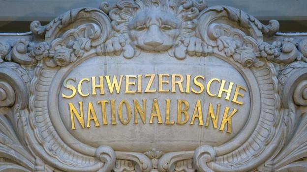 Eingang der Nationalbank.