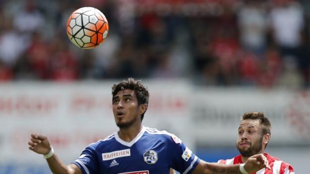Dario Lezcano trifft in der 89. Minute zum 1: 0 gegen Thun