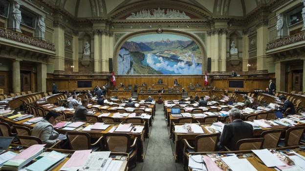 Wer für den Kanton Zug im Saal Platzt nimmt, wird am 18. Oktober entschieden.