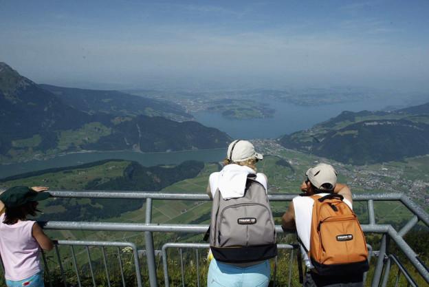 Blick vom Stanserhorn Richtung Vierwaldstättersee