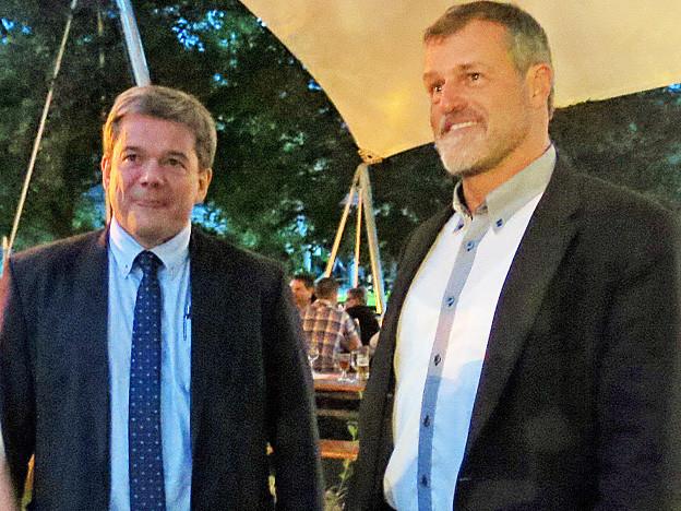 Die SVP-Kandidaten Daniel Wyler und Adrian Halter.