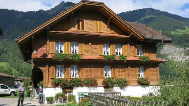 Das Bauernhaus der Familie Furrer in Lungern.
