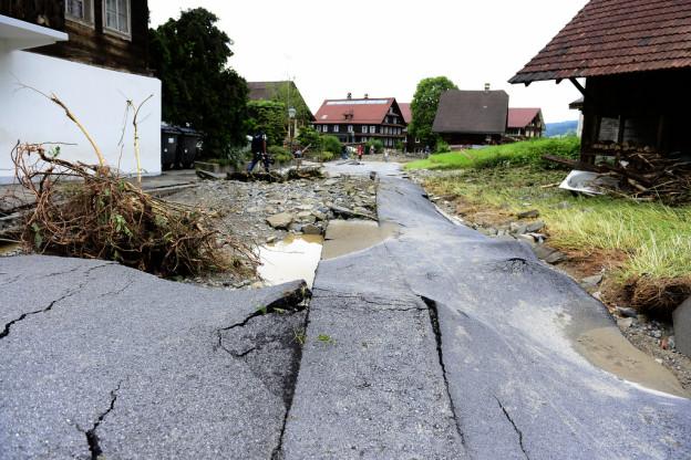 Das Unwetter im Juni forderte in Dierikon zwei Todesopfer.